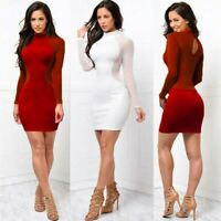 Dress Evening Sexy Cocktail Bodycon US Mini Women Party Bandage Long Sleeve Club
