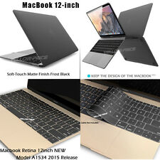 2 in 1 Rubberized Matte Hard Case Keyboard Cover for 12-inch Macbook Retina 2015