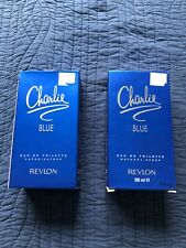 2 Charlie Blue Revlon 3.4 oz/100 ml EDT Perfume | NEW IN BOX | free shipping