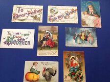 Vintage Holiday Postcards, 1908-1919