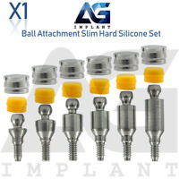 Straight Ball Attachment Abutment Slim Hard Set Dental Implant Hexagon