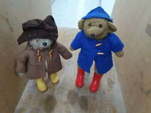 2 Vintage Paddington Bear Bears. Red Boots And Yellow Boots. 20 Inches High