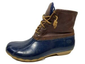 Sperry Topsider Leather Duck Boots Zip Womens 11