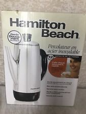 Hamilton Beach 12-Cup Electric Percolator Coffee Pot Maker 40616 Stainless Steel