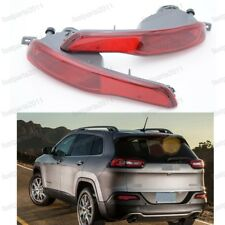 Rear Bumper Fog Reflector Lights Lamps Set For Jeep Cherokee 2014