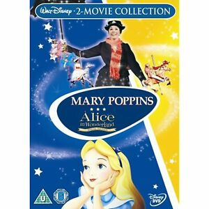 Mary Poppins/Alice In Wonderland 2 Movie Collection [DVD Boxset] R2 - New Sealed