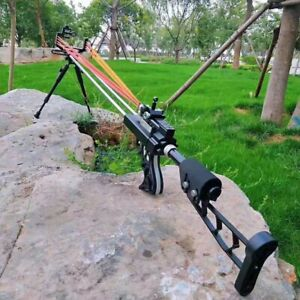 Slingshot rifle Hunting Catapult gun Powerful Stainless Slingshot sport rifle