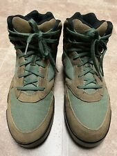 Vintage Nike 185007-320 Brown Suede Hiking Boots Men's Size 9.5 Made In Korea