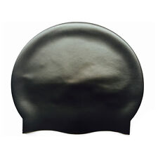 700PCS Silicone Black Swimming Cap for Women and Men - Long Hair Thick or Short