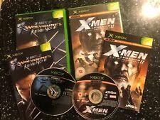 2x ORIGINAL pal Jeux Xbox X-MEN NEXT DIMENSION + Legends II Rise Of Apocalypse