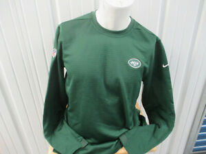 NIKE NEW YORK JETS GREEN LARGE THERMAL SWEATSHIRT FOOTBALL TEAM ISSUED PREOWNED