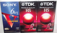 ✰ Mixed Lot ✰ TDK SONY NEW Sealed VHS Videocassette Blank Tape T120 T160 premium