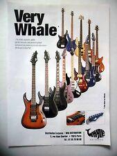 PUBLICITE-ADVERTISING :  Guitare WHALE  01/2002