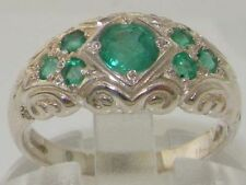Emerald Band Fine Rings