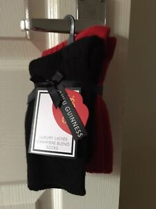 💋Cashmere  Blend Exclusive Edition LULU 💄GUINNESS 2 pairs Socks BNWT 👠