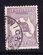 Australia 1913 SG10 9d Violeta Die II wmk 2-Fine Used. catálogo £ 27