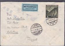 Flugpost nach Palästina mit 2 S Einzelfrankatur 6.III.38