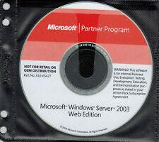 Microsoft Windows Server 2003 Web Edition