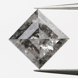 0.98 CT Natural Loose Diamond Black Grey Color Kite 7.70 MM L9339