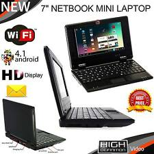 "7"" Mini Ordenador Portátil Netbook 4GB WIFI ANDROID NOTEBOOK PC Laptop Barato & Inteligente Look"