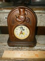 HOLLYWOOD MICKEY MOUSE TALKING SIM. WOOD ALARM CLOCK SEIKO