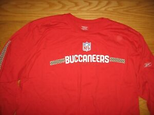 TAMPA BAY BUCCANEERS NEW LONG SLEEVE RED JERSEY BY REEBOK NFL TEAM APPAREL XXL