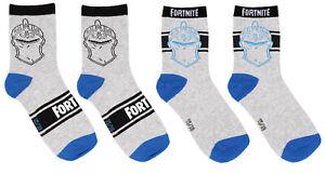 Fortnite Socks Set for Boys 2 pairs Low Ankle Socks Black Red Blue Size 27-38