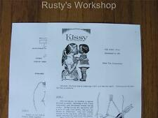 1960's Ideal KISSY doll Repair INSTRUCTIONS (Reproduction)