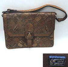 e863474f6f20b Vintage 60er Jahre Handtasche Henkeltasche echtes Kroko Leder mit IRV Siegel