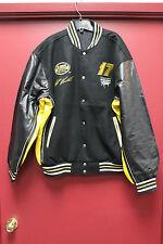 New Casey Mears 07 Jack Daniel's wool &Genuine Leather reversible jacket men's L