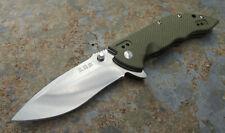 Sanrenmu 9054 GP EDC OLIV Messer Taschenmesser Slipjoint 12C27 Stahl G10 Griff