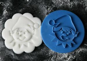 Elf cookie embosser, Elf stamp, Christmas cookie stamp, Fondant embosser