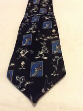 Looney Tunes Stamp Collection Neck Tie Classic Novelty 1997 Marvin the Martian