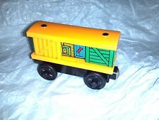 YELLOW BOX TRAIN wood Thomas TRAIN, fits WOOD TRACK