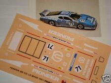 FERRARI 512 BB PIONEER LE MANS 1982 1/43 DECALS