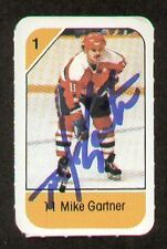 Mike Gartner signed autograph auto 1982-83 Post Cereal NHL Hockey Card