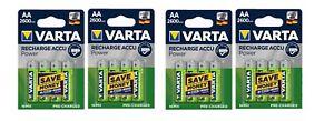 Lot de 4 Blisters de 4 accus/piles rechargeable AA/LR6 2600 mAh Varta