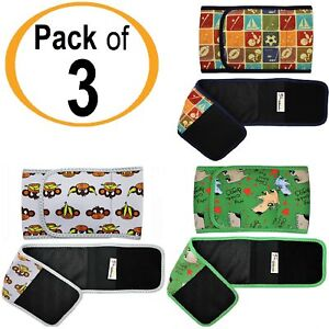 PACK - 3pcs Male Diapers Dog BELLY BAND Wrap Washable NEOPRENE Small & Large Dog