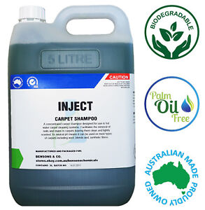 5 Litre Carpet Upholstery Shampoo - Can Use w/ Karcher, Bissell, Vax etc 5L