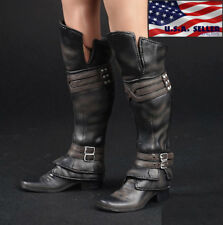 1/6 Assassin's Creed Leather Boots BLACK Roman Soldier Armor For Hot Toys ❶USA❶