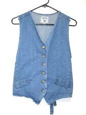 VTG 70s 80s BOHO Hippie made in the USA Cherokee Denim Vest Womens size M