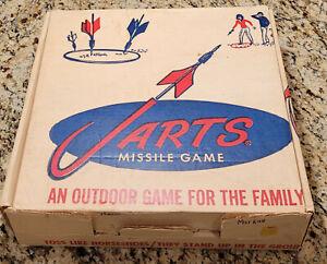 VINTAGE 1960s JARTS LAWN DARTS EMPTY CARDBOARD BOX & INSTRUCTIONS YARD MISSILES
