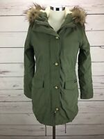 Abercrombie & Fitch Women's Size XS Sherpa Lined  Military Parka Jacket NWT