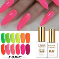 RS Nail Gel Nail Polish UV LED Varnish Soak Off Neon Colours 15ml