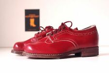 TRUE VINTAGE Mädchen Schuhe Kinderschuhe Halbschuhe Schnürschuhe EUR 30 NOS rot