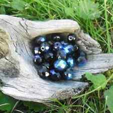 30 Perles de bohème facette 10 mm (Jet AB)