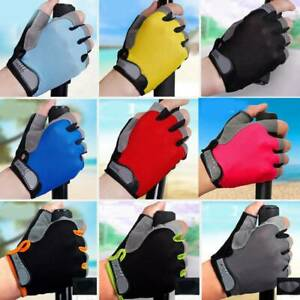 US Breathable Half Finger Bike Gloves Anti Skid Gel Padded Sports Cycling Gloves