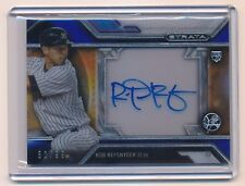 ROB REFSNYDER 2016 TOPPS STRATA CLEARLY AUTHENTIC RC AUTO JERSEY BLUE 50/99