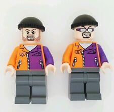 LEGO Superheroes Henchmen Two Face minifigure lot Batman authentic orange Purple