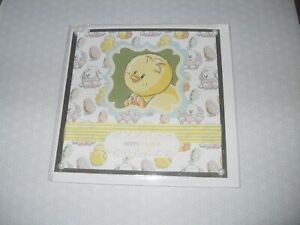 Children's Easter Card - Chick / Rabbit - Handmade with Envelope - no words (58)